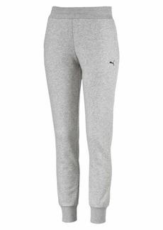 PUMA Women's Essentials French Terry Sweatpants Light Gray Heather-Cat M