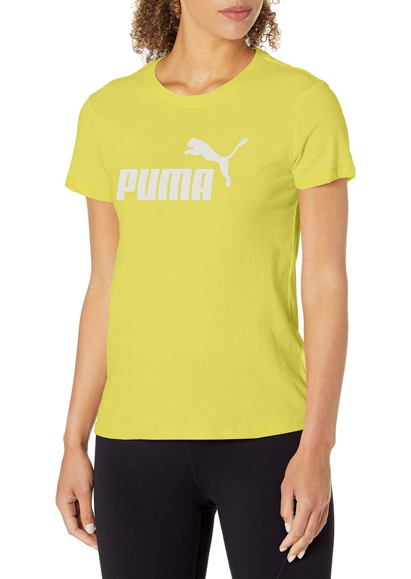PUMA Women's Essentials Logo Tee Celandine-Tonal
