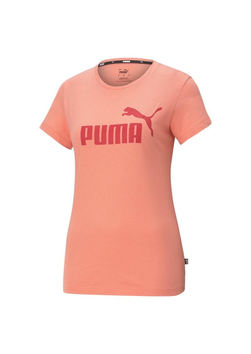 PUMA Women's Essentials Logo Tee Georgia Peach-American Bty