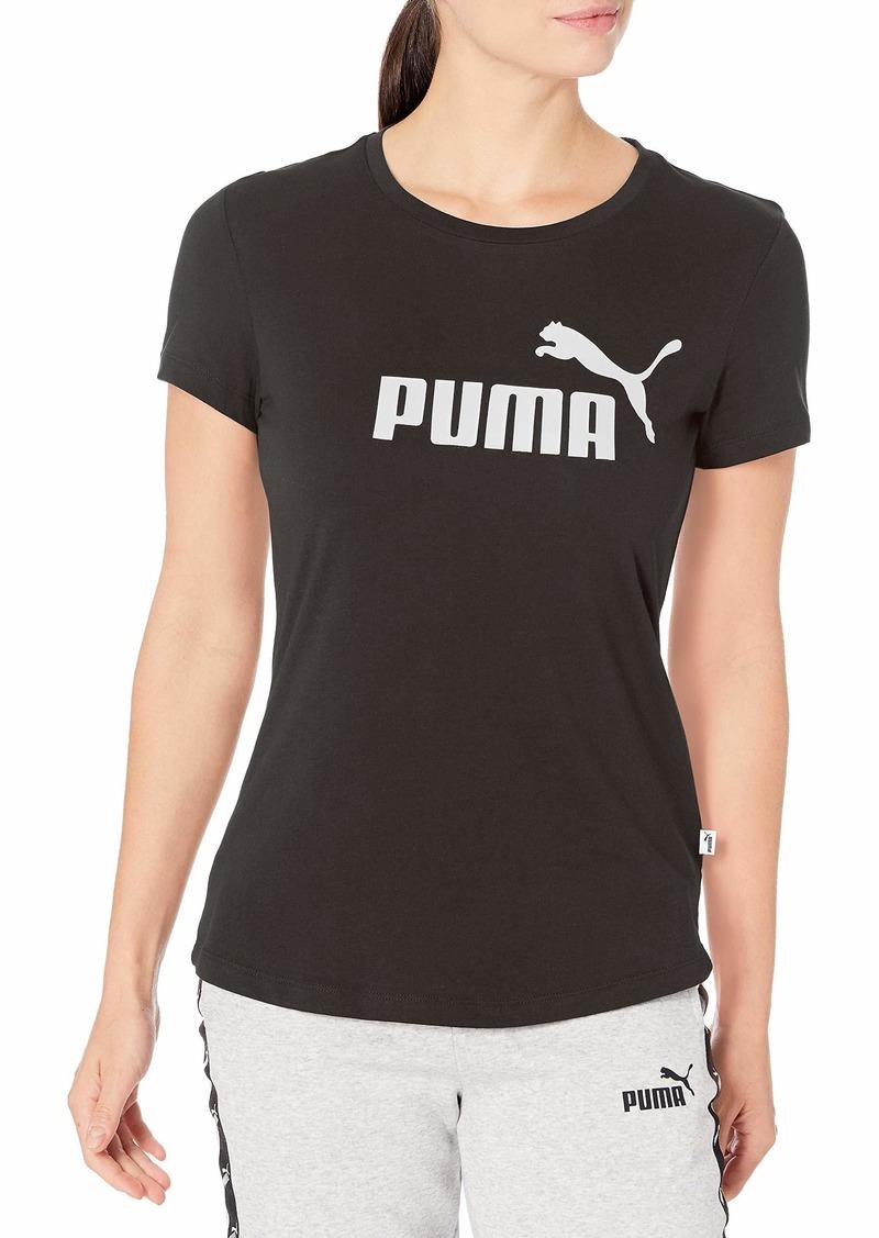 PUMA Women's Essentials+ Metallic T-Shirt Black-Gold XS
