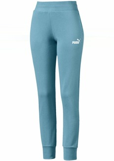 PUMA Women's Essentials Sweat Pants Fleece Closed Bottom  L