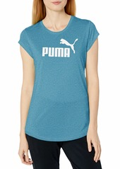 PUMA Women's Essentials T-Shirt Digi-Blue Heather XXS