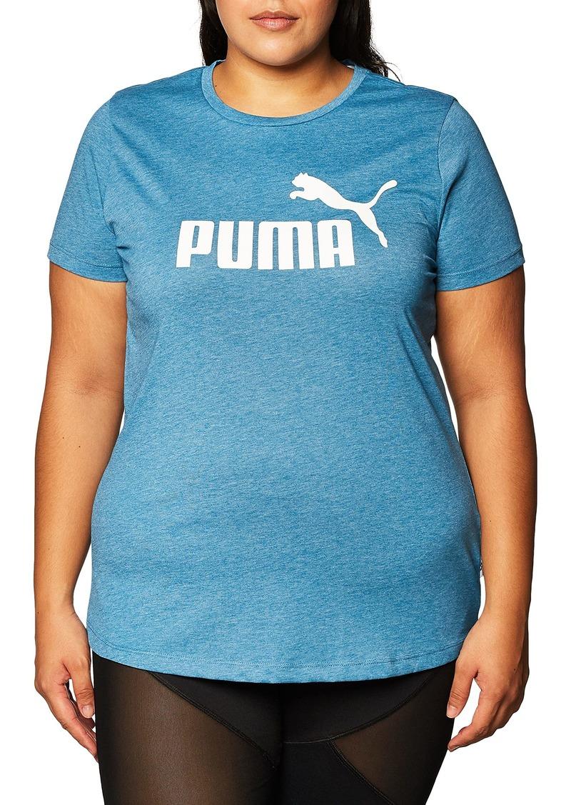 PUMA Women's Essentials+ Tee Digi-Blue Heather XS