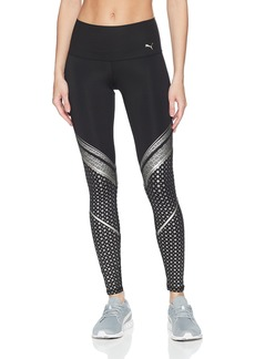 PUMA Women's Everyday Train Graphic Tight Leggings Black/Silver XS