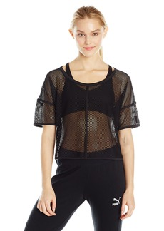 PUMA Women's Explosive Mesh Top Black S