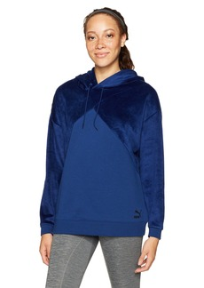 PUMA Women's Fabric Block Oversized Hoodie  XL
