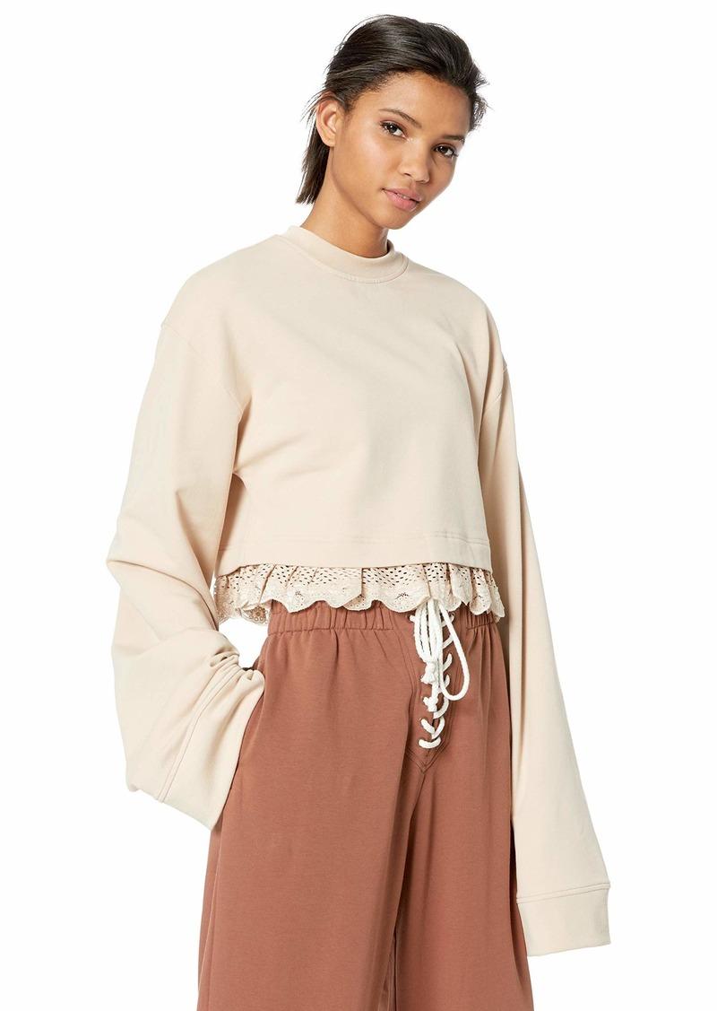 PUMA Women's Fenty Cropped Long Sleeve Shirt  L