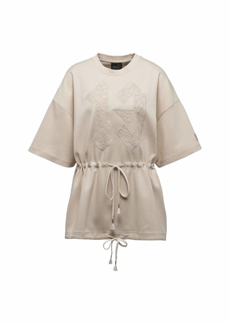 PUMA Women's Drawstring Graphic T-Shirt Shirt  XL