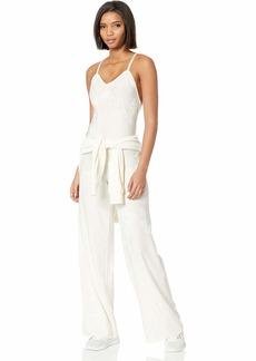 PUMA Women's Fenty Jumpsuit Vanilla ice/Knit Jacquard S