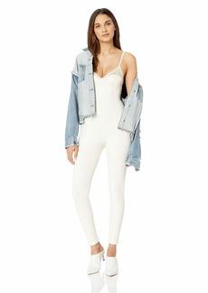 PUMA Women's Fenty LACE Detail Full Bodysuit Vanilla ice XS