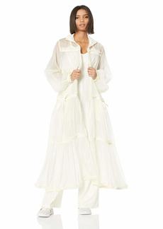 PUMA Women's Fenty Tiered Long Jacket Vanilla ice S