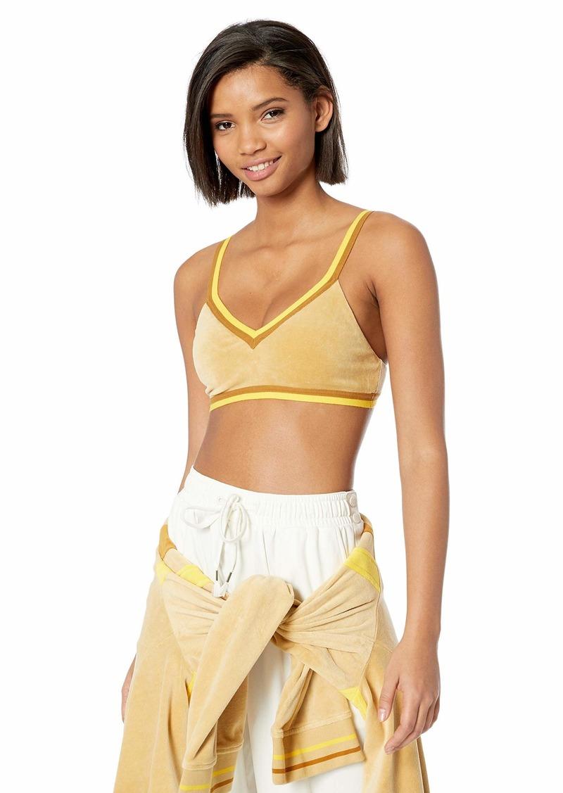 PUMA Women's Fenty V-Neck Velour Crop TOP  XS