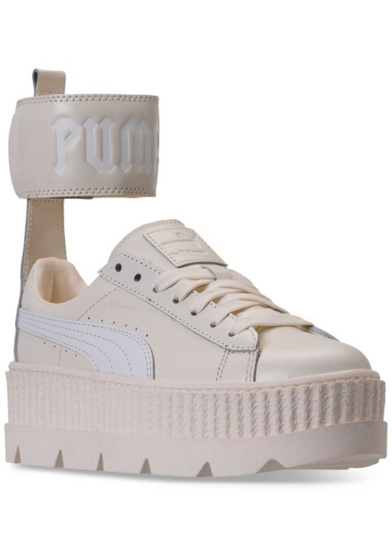 new products 791c3 2f307 Women's Fenty x Rihanna Ankle Strap Creeper Casual Sneakers from Finish Line