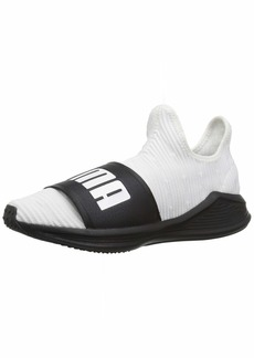 PUMA Women's Fierce Slide Sandal White Black  M US