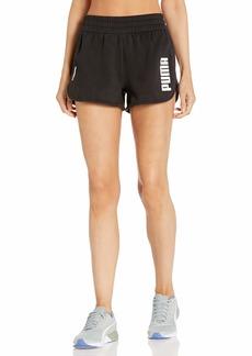 PUMA Women's Fleece Training Shorts Black S