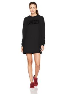PUMA Women's Fusion Crewneck Sweatshirt Dress  XS