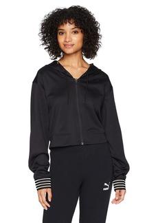PUMA Women's Fusion Full Zip Hoodie Black S