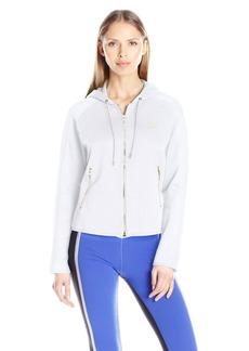 PUMA Women's Gold T7 Full Zip Hoodie White