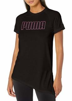 PUMA Women's Graphic Training T-Shirt Black XL