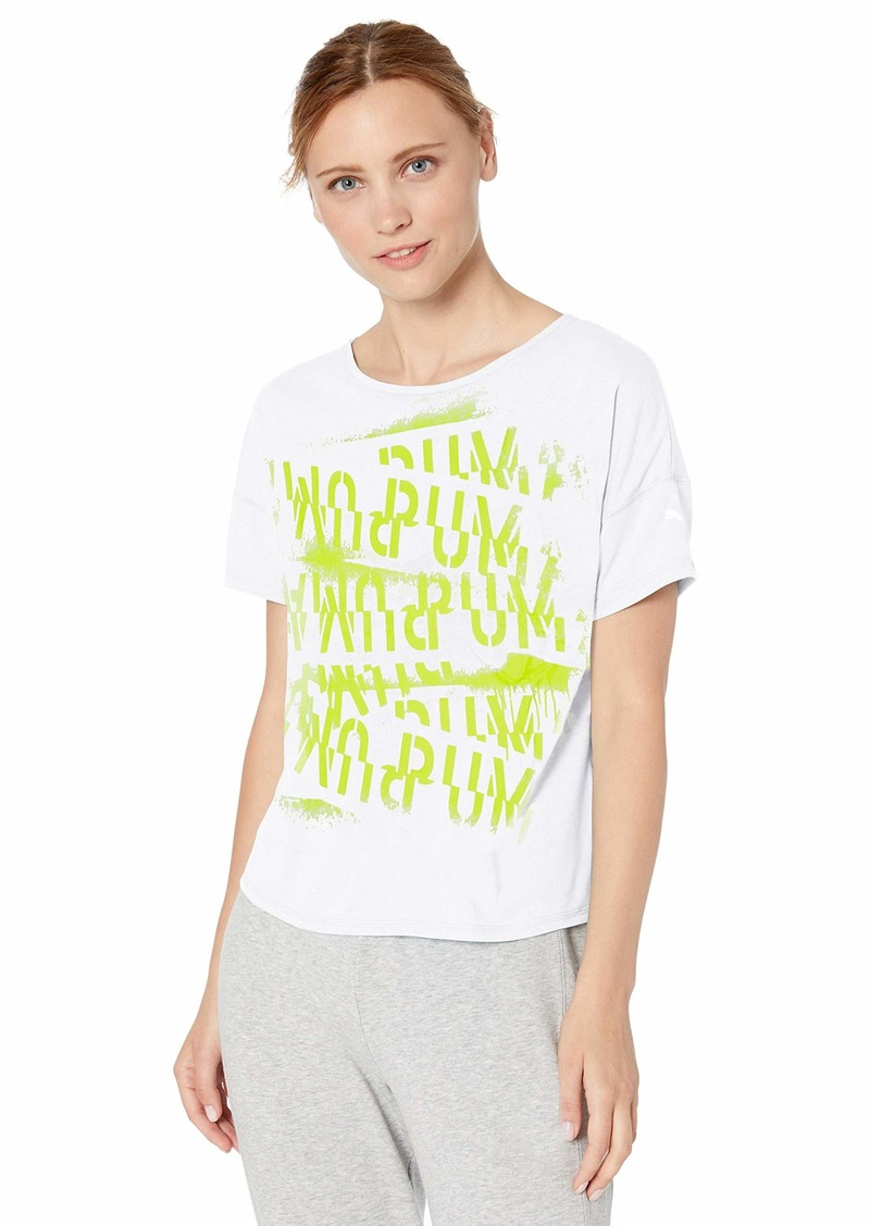 PUMA Women's HIT Feel IT TEE Shirt puma White S