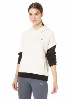 PUMA Women's Holiday Color Block Pullover Whisper White Black XS
