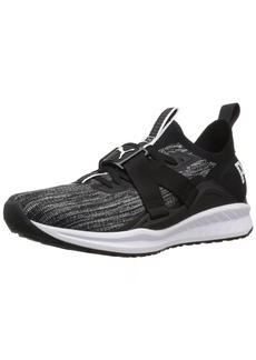 PUMA Women's Ignite Evoknit Lo 2 Wn Sneaker Black-Quiet Shade White