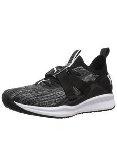 PUMA Women's Ignite Evoknit Lo 2 Wn Sneaker Black-Quiet Shade White  M US