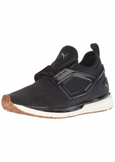 PUMA Women's Ignite Limitless 2 Crafted Sneaker Black Rose Gold  M US