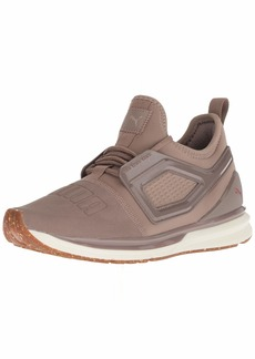 PUMA Women's Ignite Limitless 2 Crafted Sneaker Taupe Gray-Rose Gold