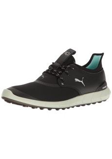 PUMA Women's Ignite Spikeless Sport WMNS Golf Shoe Black Silver-Aruba Blue  Medium US