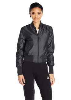 PUMA Women's Irridescent Bomber Jacket Black L