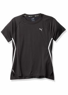 PUMA Women's Laser Cat Running T-Shirt Black XS