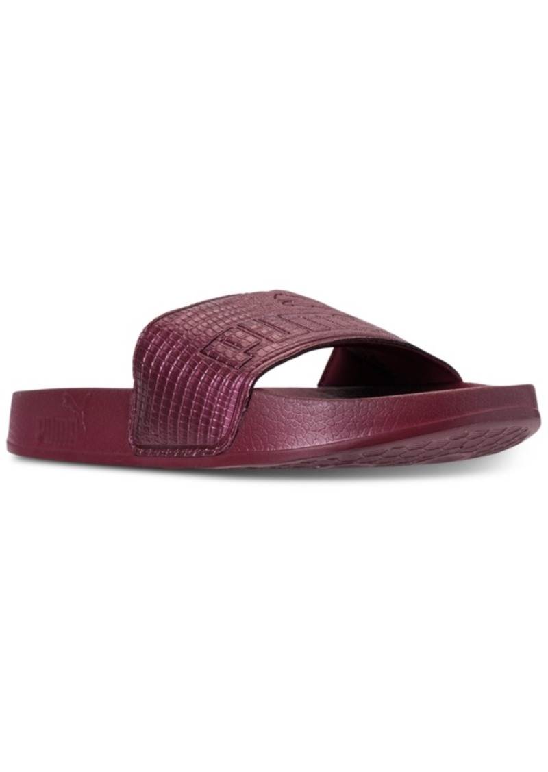 Puma Puma Women s Leadcat Leather Slide Sandals from Finish Line  41b792e30