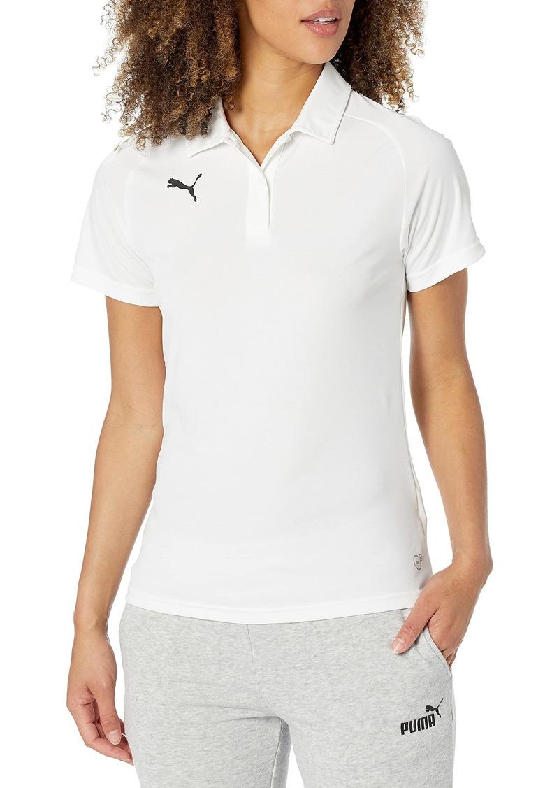 PUMA Women's Liga Sideline Polo White-Black L