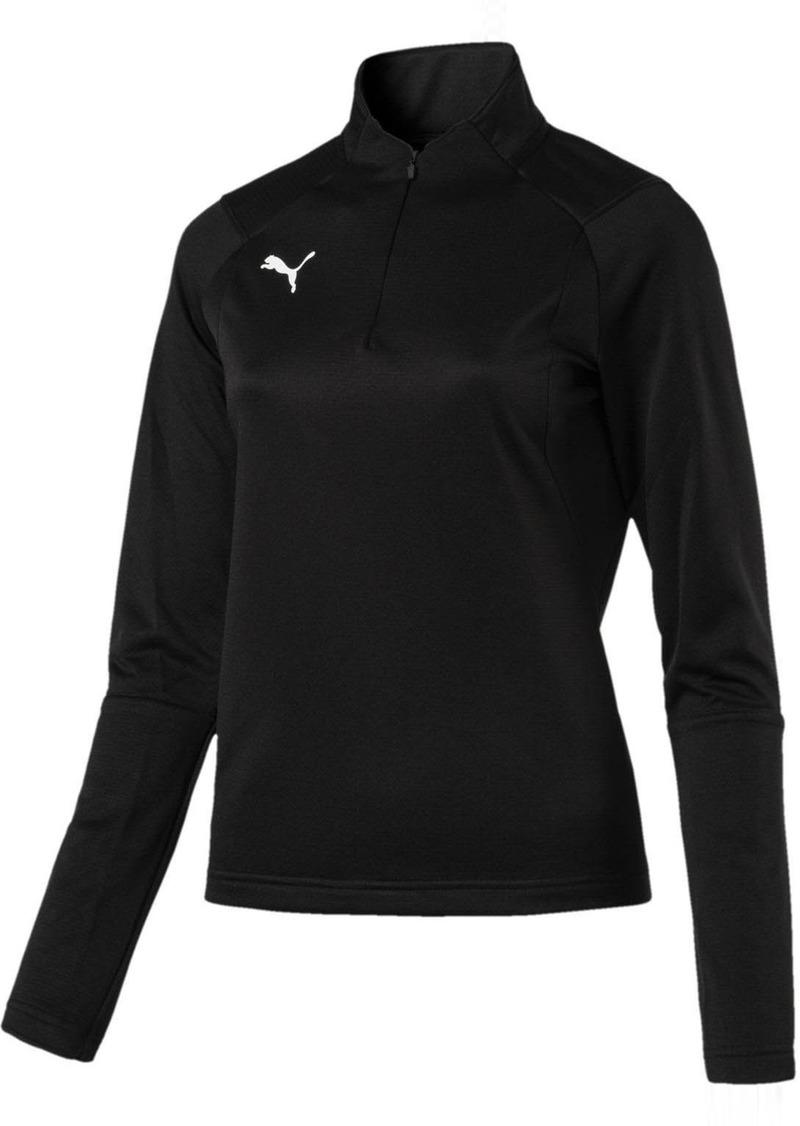 PUMA Women's Liga Training 1/4 Zip Top Black White S