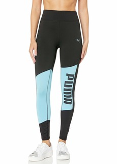 PUMA Women's DryCELL 7/8 Graphic Tights Black-Milky Blue