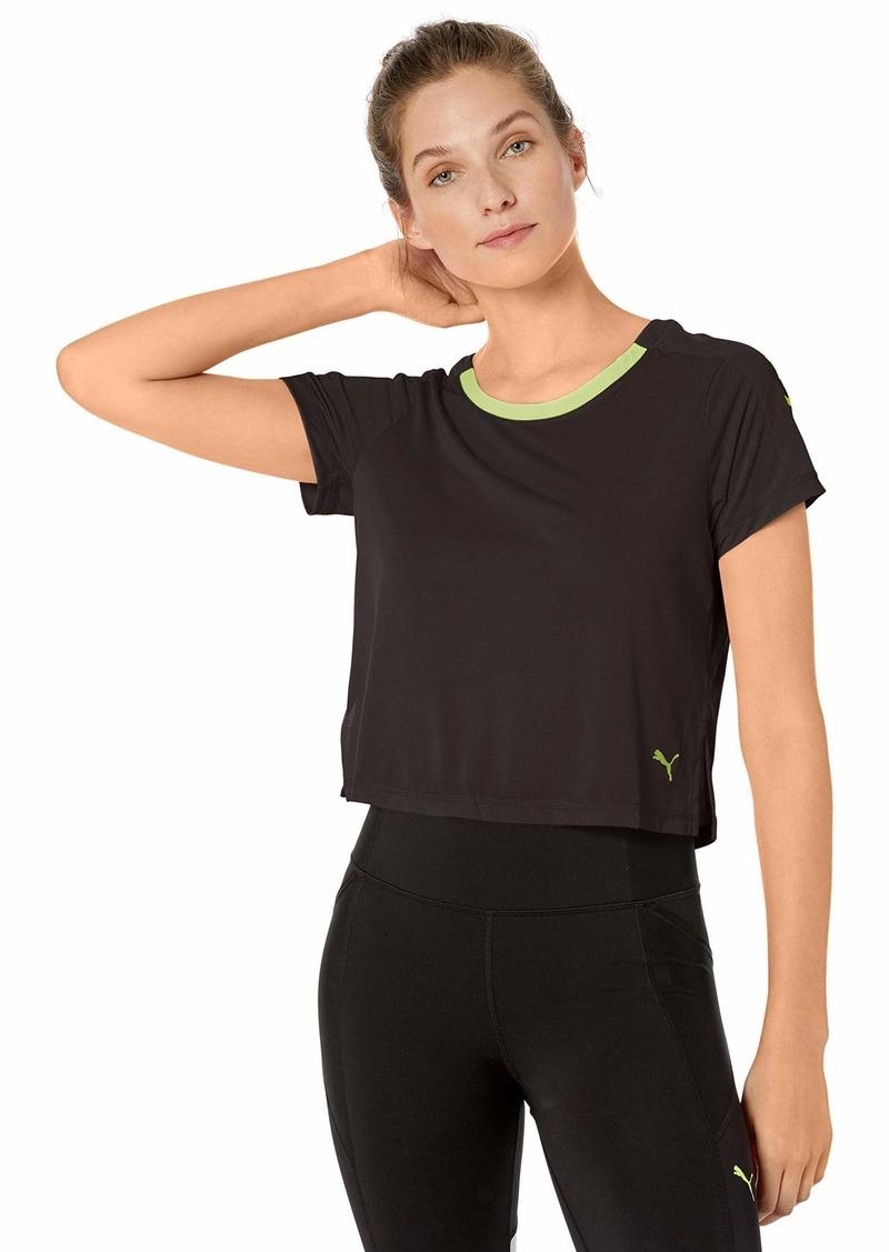 PUMA Women's Graphic T-Shirt Blackyellow Alert