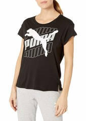 PUMA Women's Modern Sport Graphic T-Shirt Black