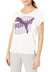PUMA Women's Modern Sport Graphic T-Shirt White
