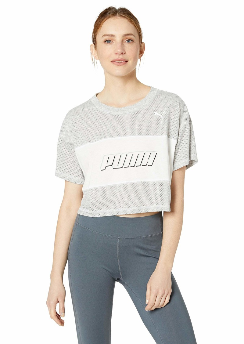 PUMA Women's Modern Sports Cropped Tee Shirt  XL