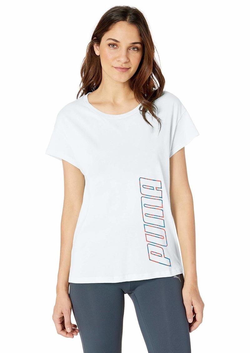 PUMA Women's Modern Sports Graphic T-Shirt White