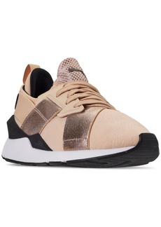 Puma Women's Muse Metallic Casual Sneakers from Finish Line