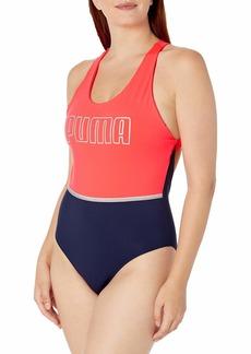 PUMA Women's Neo-Future Bodysuit Ignite Pink-Peacoat M