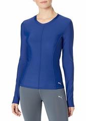 PUMA Women's Nocturnal Velvet Long Sleeve Shirt  XS