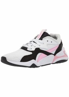 PUMA Women's Nova Sneaker White-Pale Pink  M US