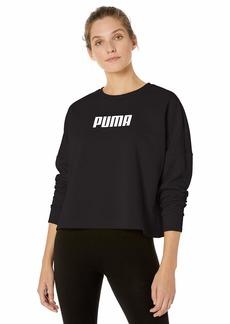 PUMA Women's NU-TILITY Cropped Sweatshirt Black