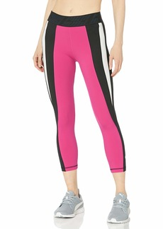 PUMA Women's OWN IT 3/4 Tight Leggings Black-Fuchsia Purple-Q2 M