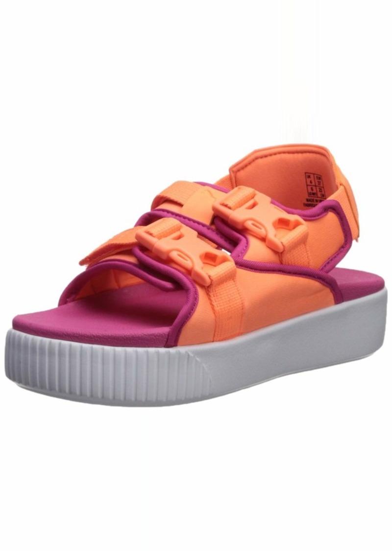 PUMA Women's Platform Slide YLM Sandal Fizzy Orange-Fuchsia  M US