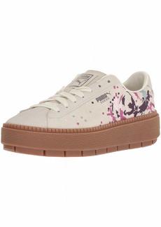 PUMA Women's Platform Trace WN's Sneaker Whisper White