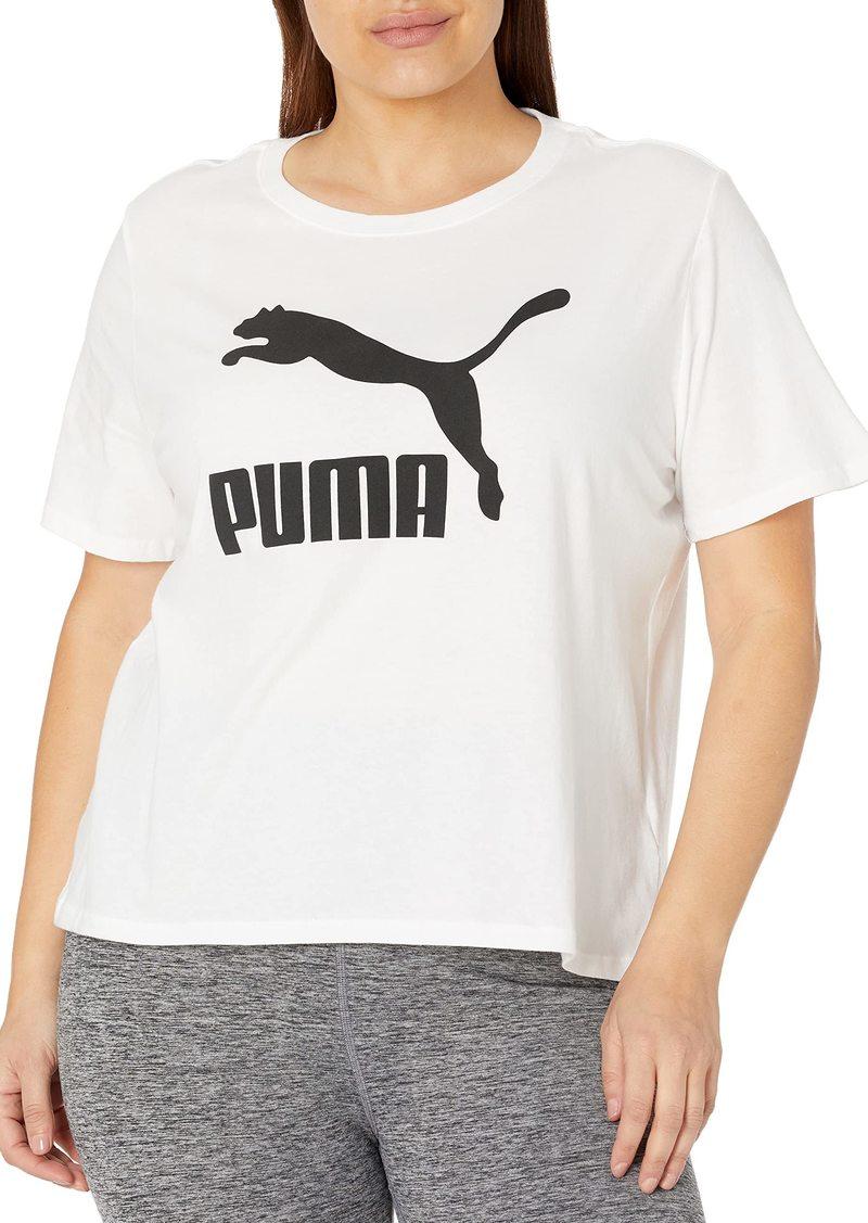 PUMA Women's Plus Size Classics Logo Tee White